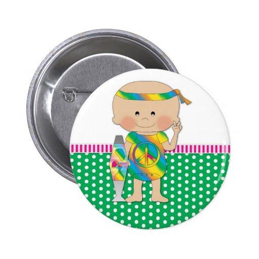 Verde del bebé del Hippie Pin