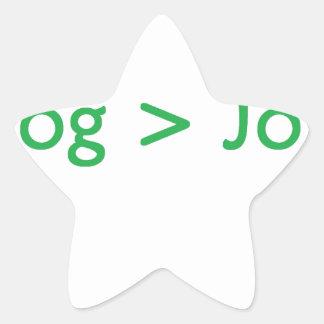 verde del blog pegatina forma de estrella