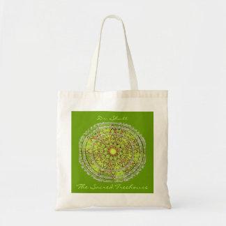 Verde del bolso del arte de la mandala bolsa tela barata