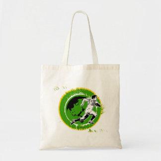 Verde del bolso del funcionamiento del rugbi bolsa lienzo