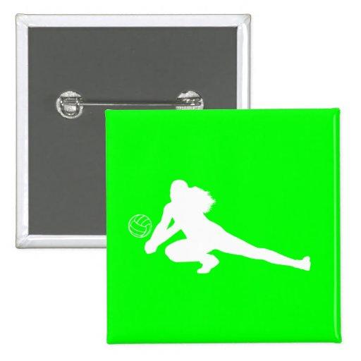 Verde del botón de la silueta del empuje