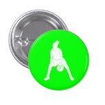 Verde del botón de la silueta del regate pins