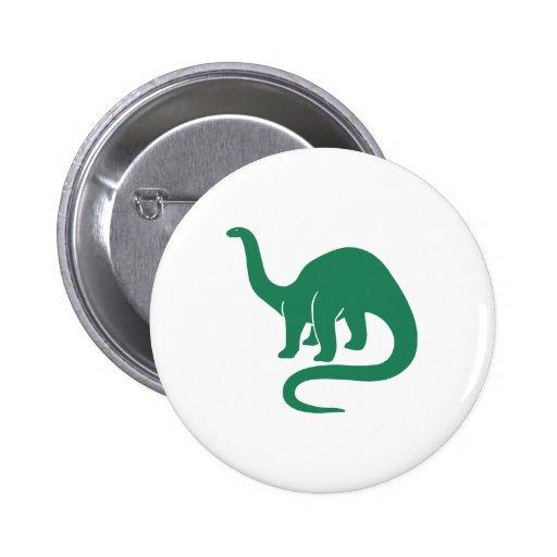 Verde del botón del dinosaurio pin