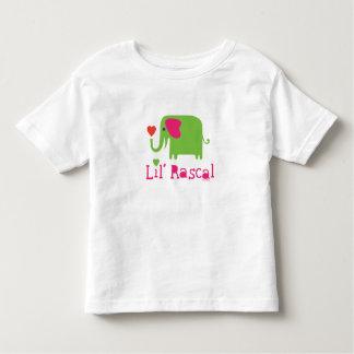Verde del bribón de Lil del elefante T-shirts