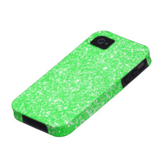 Verde del brillo iPhone 4/4S fundas