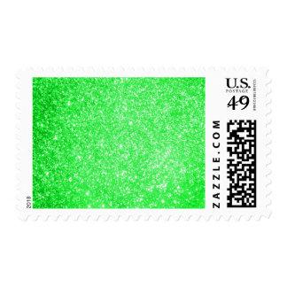 Verde del brillo sellos