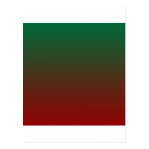 Verde del cadmio a la pendiente horizontal del OU Tarjetas Postales