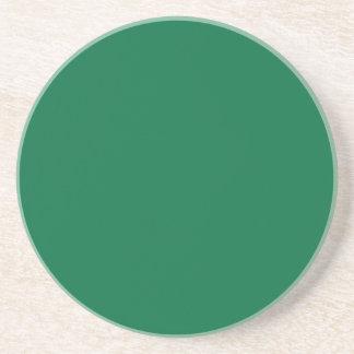 Verde del cadmio posavasos personalizados