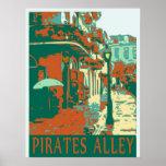 Verde del callejón de los piratas posters