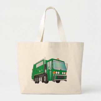 verde del camión de basura 3d bolsa tela grande
