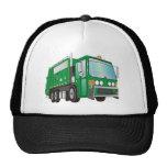 verde del camión de basura 3d gorras de camionero