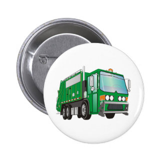 verde del camión de basura 3d pins