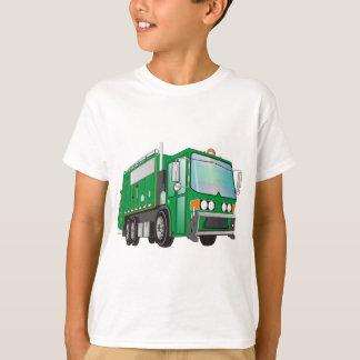 verde del camión de basura 3d playera