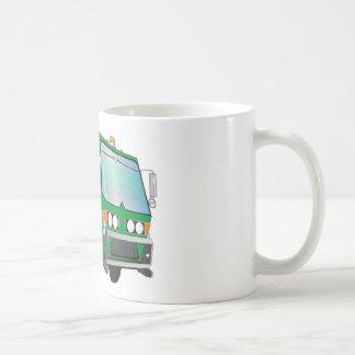 verde del camión de basura 3d tazas de café