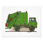 Verde del camión de basura arte fotografico