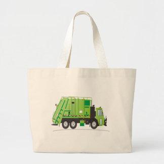 Verde del camión de basura bolsa tela grande