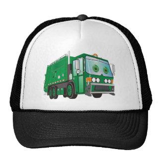 verde del camión de basura del dibujo animado 3d gorro de camionero