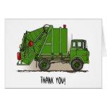 Verde del camión de basura felicitación