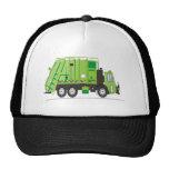 Verde del camión de basura gorro de camionero