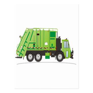 Verde del camión de basura postal