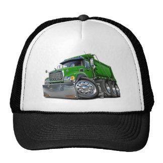 Verde del camión volquete de Mack Gorras
