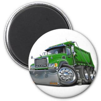 Verde del camión volquete de Mack Imán De Frigorífico