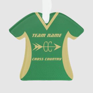 Verde del campo a través y jersey de los deportes
