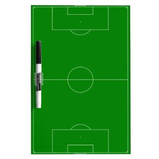 Verde del campo de fútbol pizarra