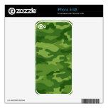 Verde del camuflaje del ejército calcomanías para iPhone 4S