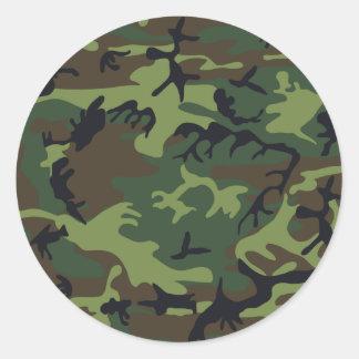 Verde del camuflaje pegatinas