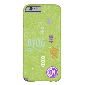 Verde del caso de la charla iPhone6 del Doodle Funda Barely There iPhone 6