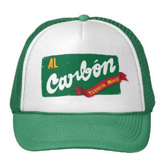 Verde del casquillo del camionero del carbono del  gorro