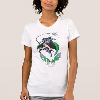 Verde del Catwoman y del logotipo Playera