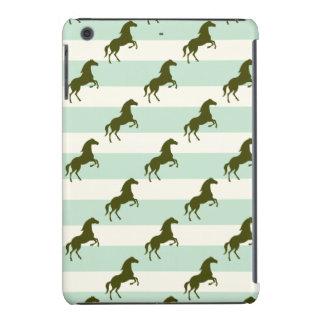 Verde del Celadon y modelo ligeros del caballo de Fundas De iPad Mini Retina