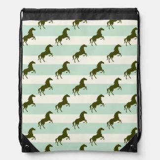 Verde del Celadon y modelo ligeros del caballo de  Mochila