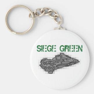 Verde del cerco de Eve Moros Dreadnought Llavero Redondo Tipo Pin