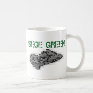 Verde del cerco de Eve Moros Dreadnought Taza De Café