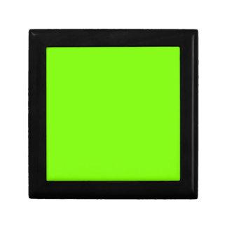 Verde del césped caja de joyas