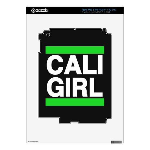 Verde del chica de Cali Pegatina Skin Para iPad 3