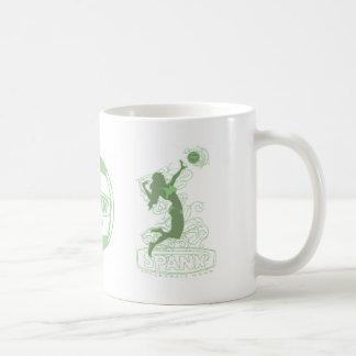 Verde del chica del bikini del azote tazas de café