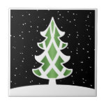 Verde del cielo Nevado de las cintas del árbol de  Azulejos Ceramicos