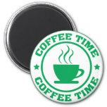 Verde del círculo del tiempo del café A251 Iman Para Frigorífico