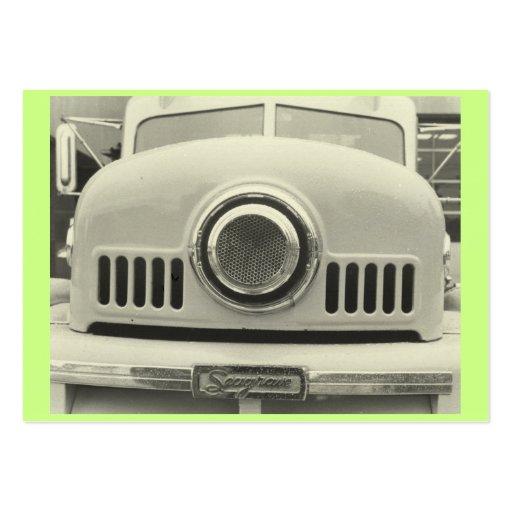 Verde del coche de bomberos tarjeta personal
