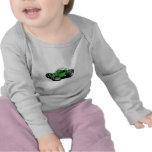 Verde del coche de playa camiseta
