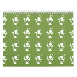 Verde del cocinero calendario de pared