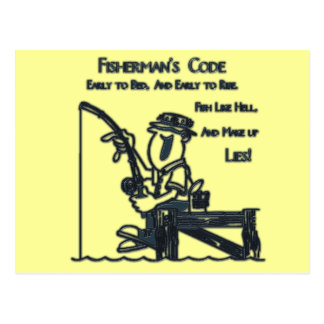 Verde del código de Fishermans Postal