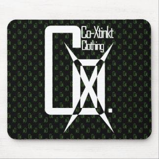 Verde del cojín de ratón del logotipo de CoXtinkt Tapetes De Raton