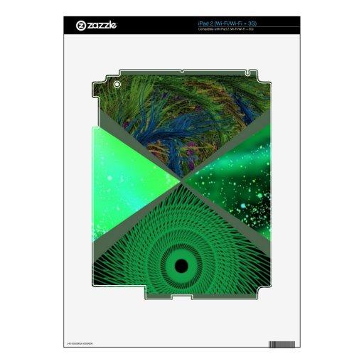 verde del collage calcomanía para el iPad 2