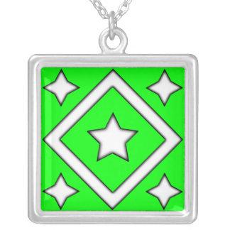 Verde del collar de la estrella del diamante