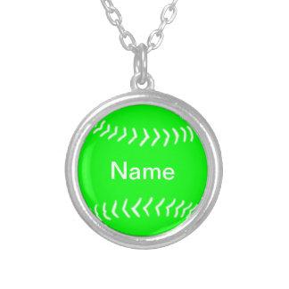 Verde del collar de la silueta del softball